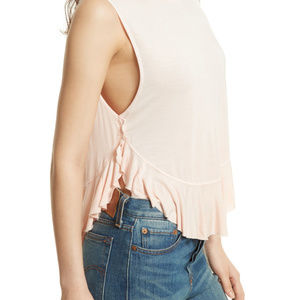 New with tag Free People Uptown Tee Pink M